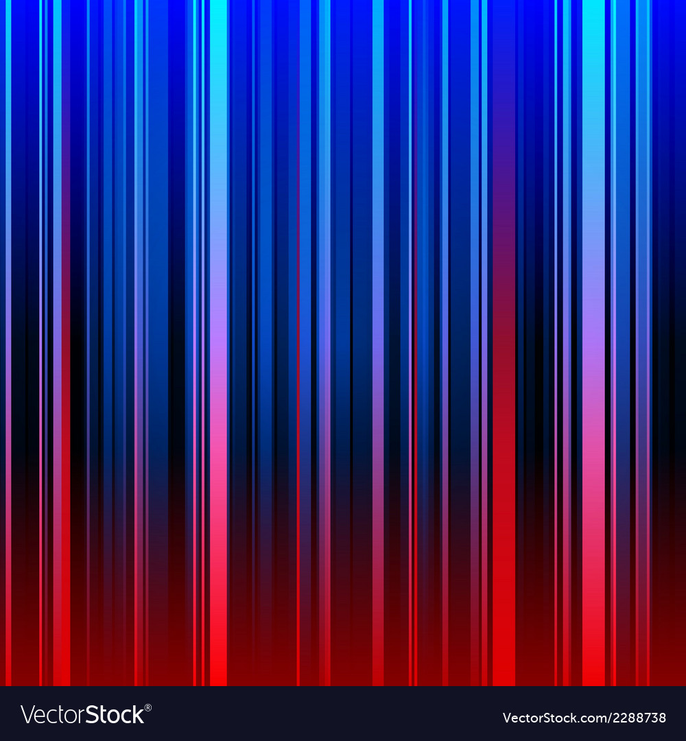 Abstract striped red and blue background vector image