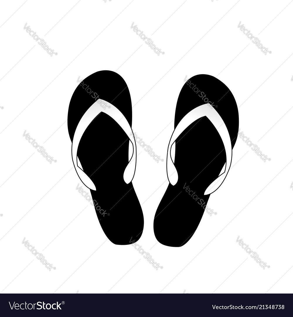 7c23f681d Flip flops icon isolated on white background Vector Image