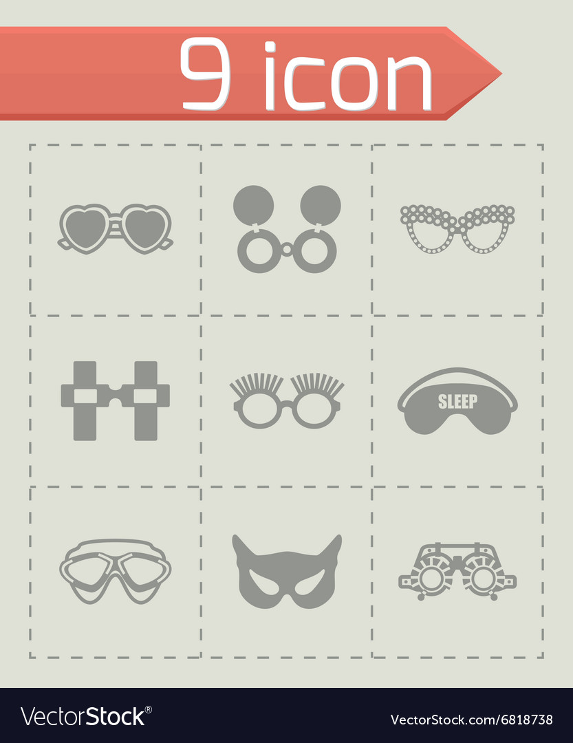 Glasses icon set