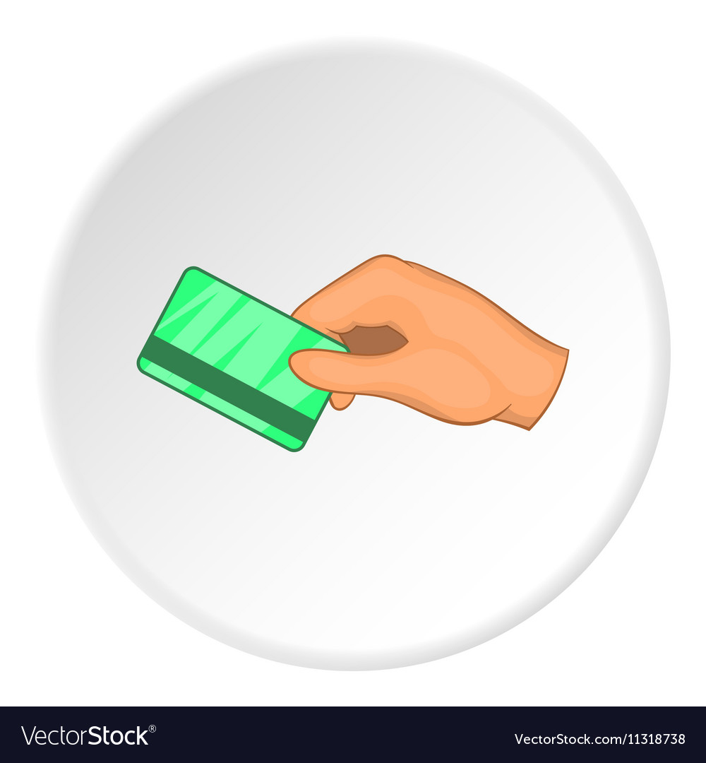 Hand with hotel room key card icon cartoon style vector image ccuart Images