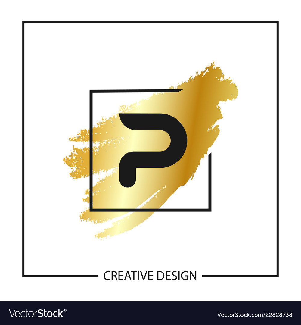 initial letter p logo template design vector image
