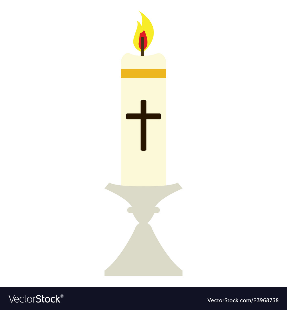 Isolated paschal candle