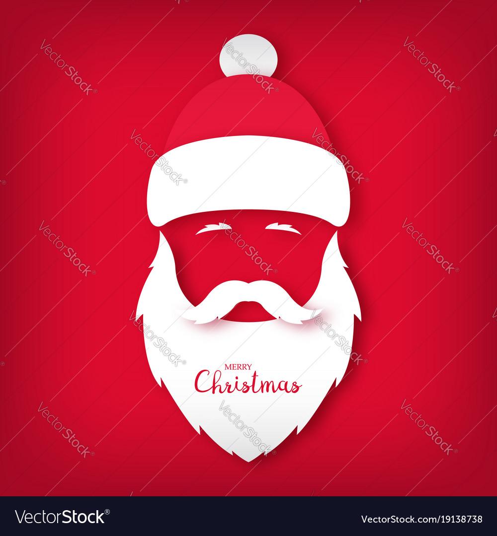 Santa claus avatar paper art style christmas