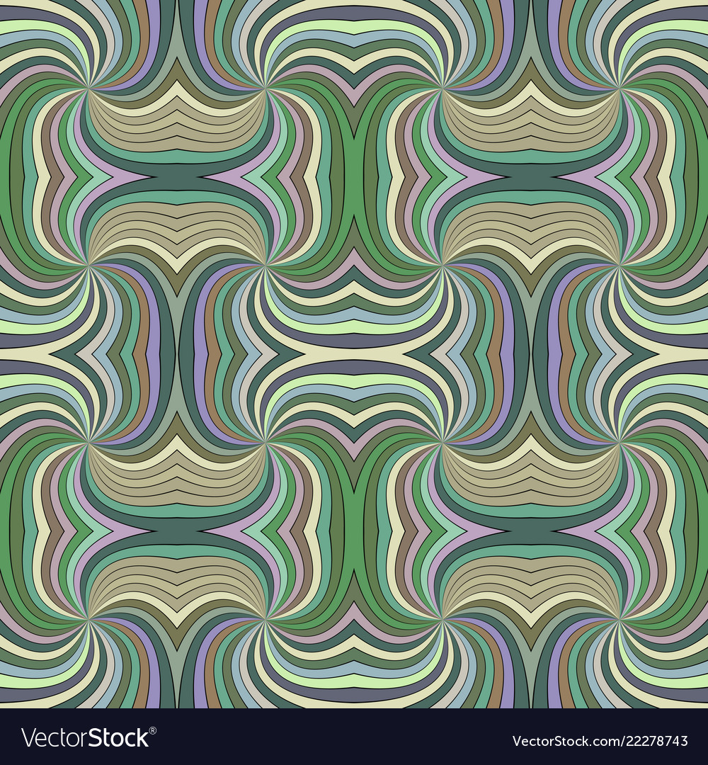 Colorful abstract hypnotic seamless striped swirl