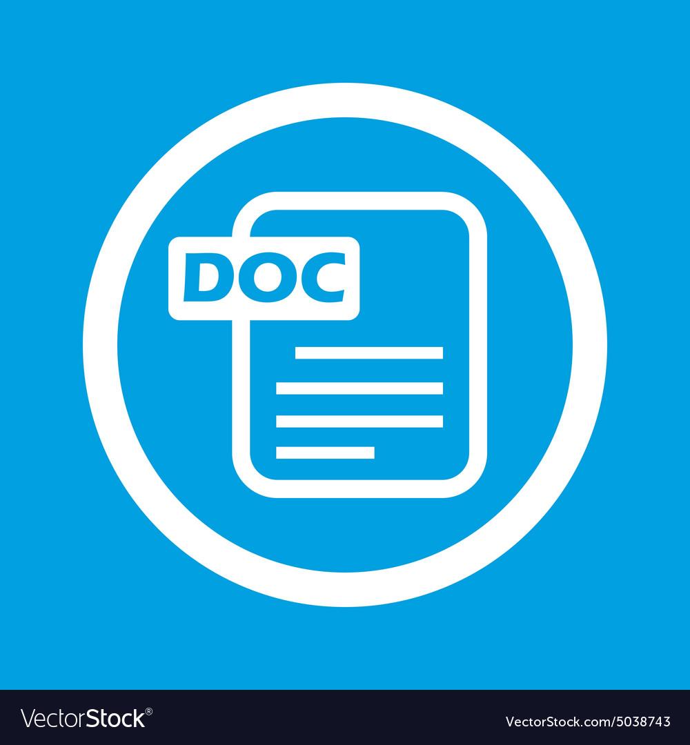 DOC file sign icon