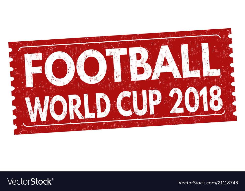 Football world cup grunge rubber stamp
