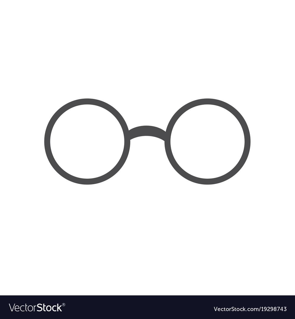 Glasses icon flat design