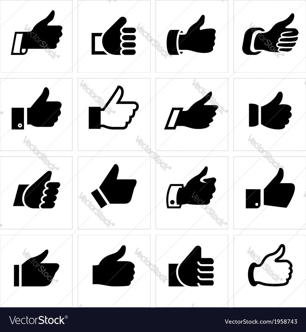 Like set icons