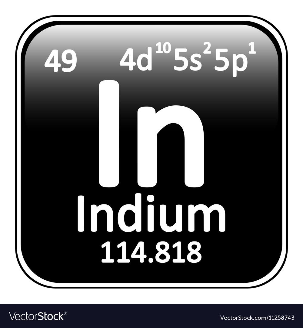 Periodic table element indium icon vector image