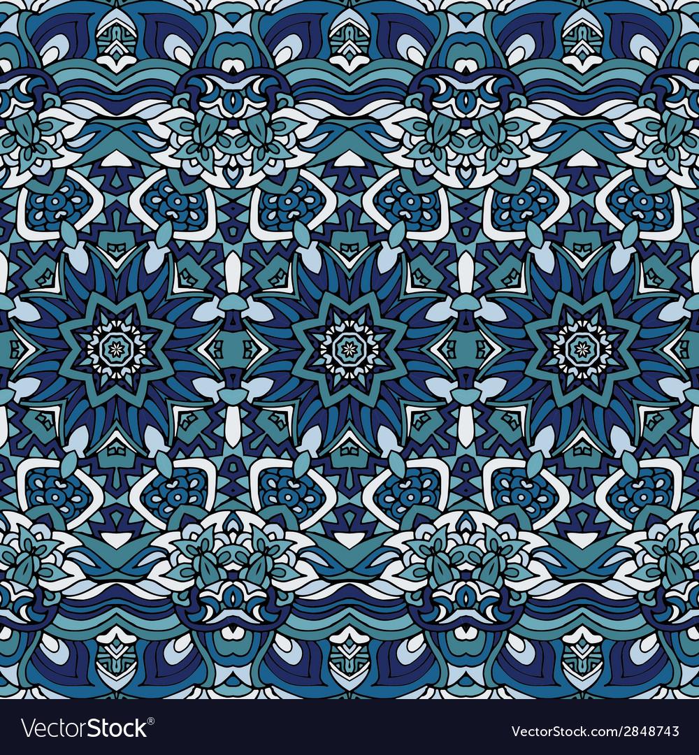 Seamless blue christmas winter gift wrap pattern
