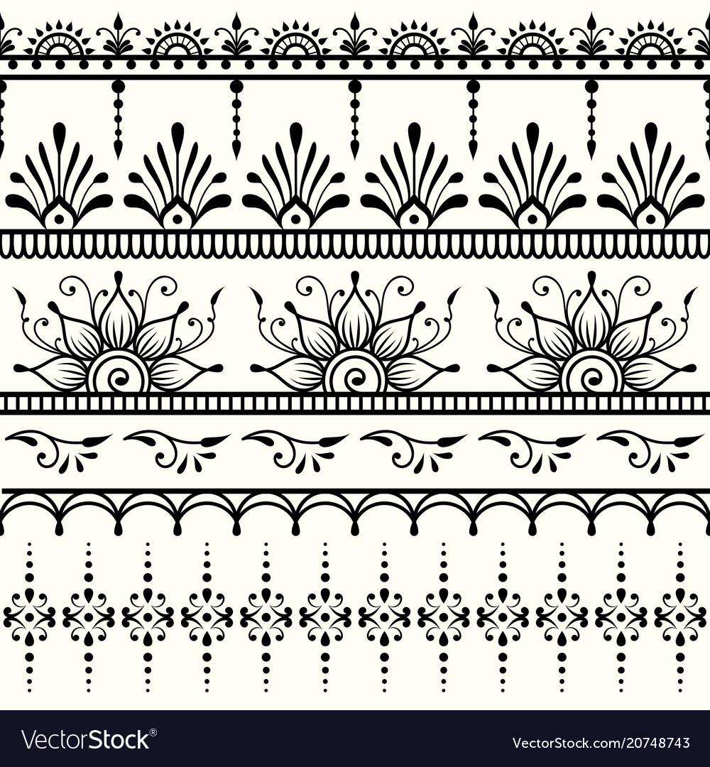 Seamless indian pattern mehndi design