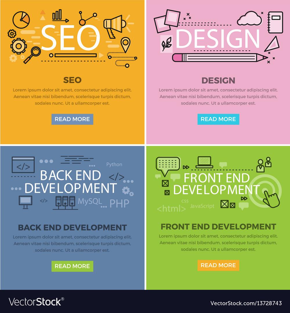 Set of internet technology web banners