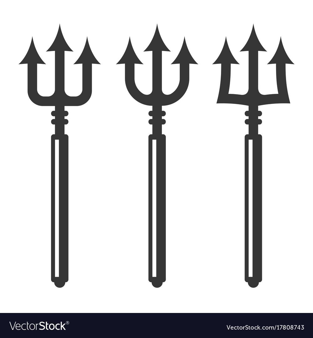 Trident silhouette set