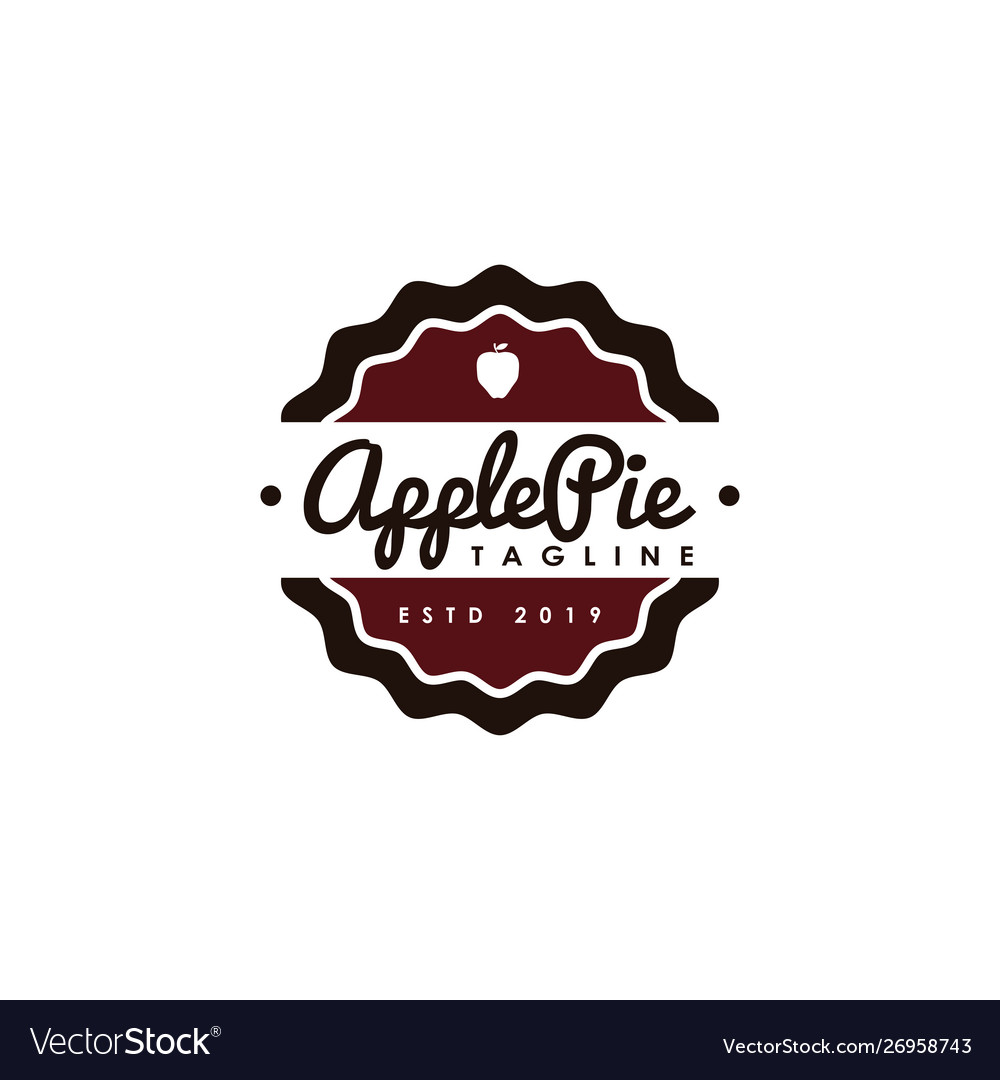 Vintage hipster retro apple pie logo