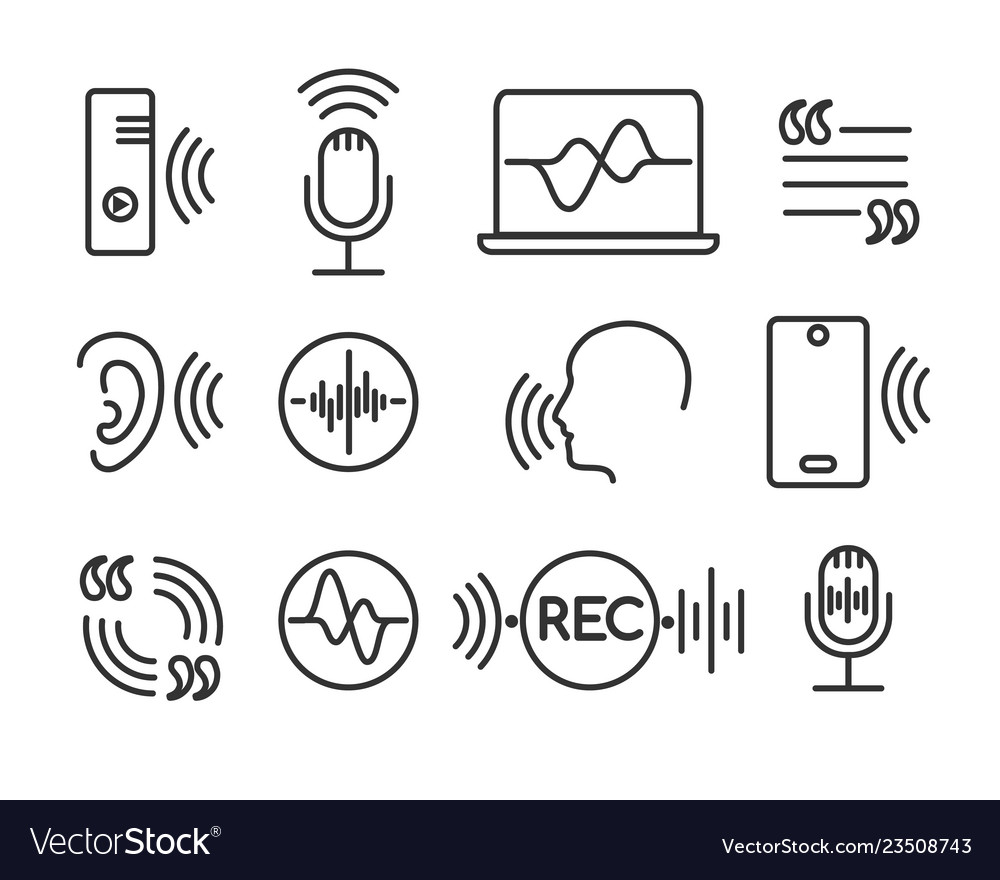 Voice recognition icons