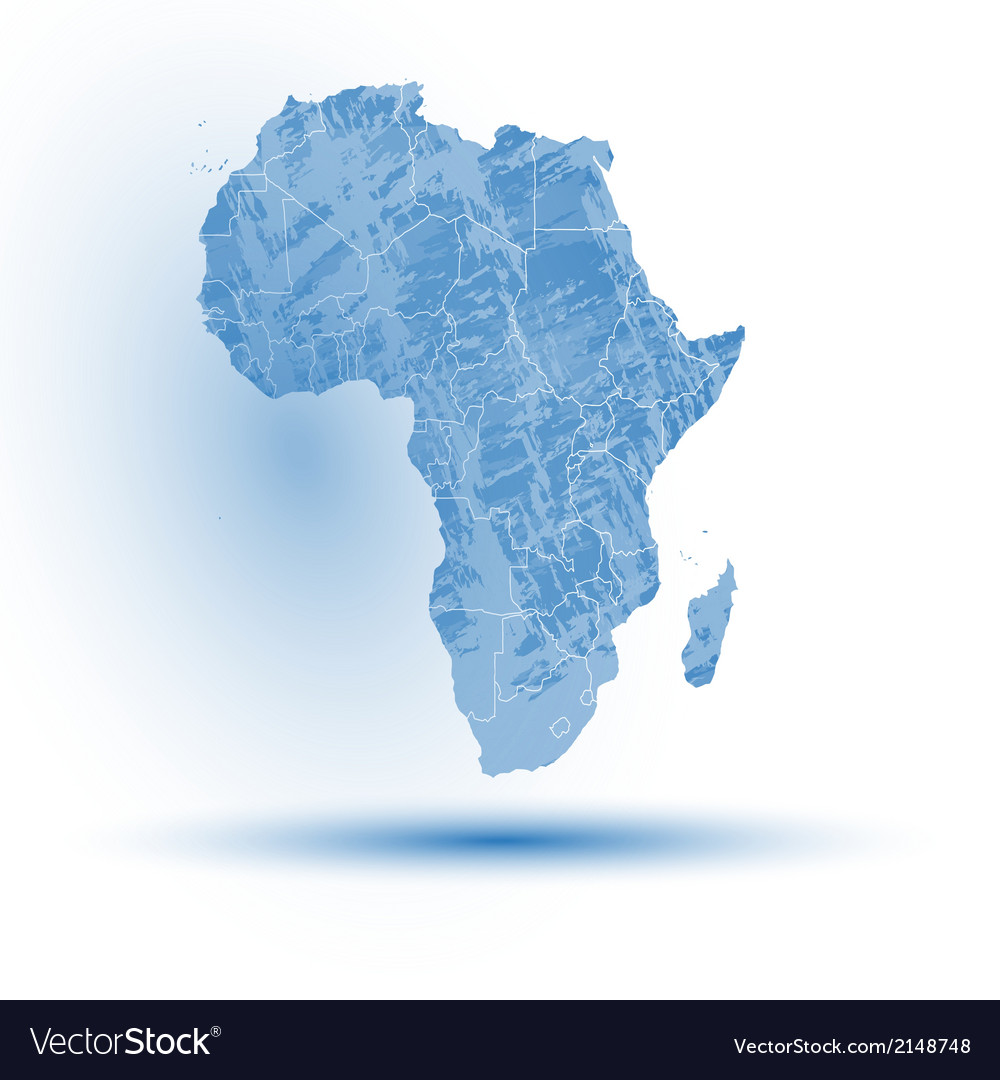 Africa map background Royalty Free Vector Image