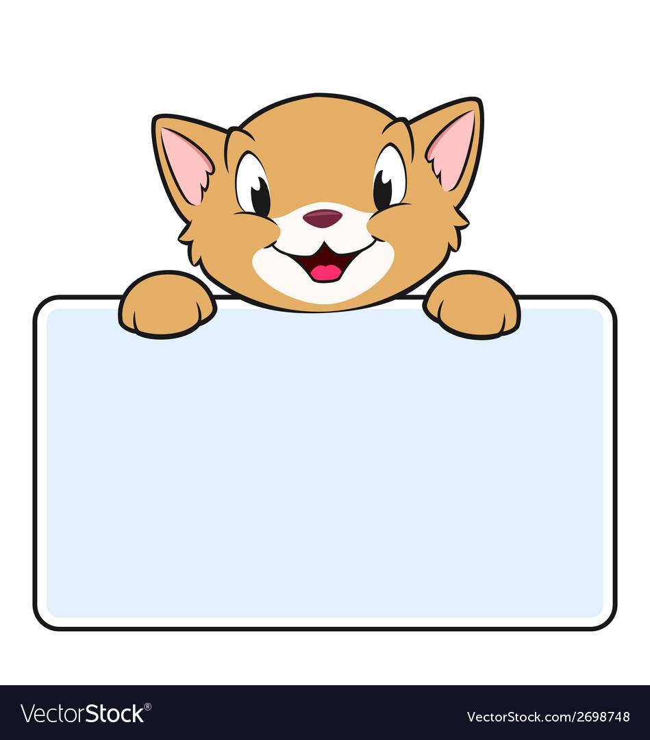 Cartoon Banner Cat