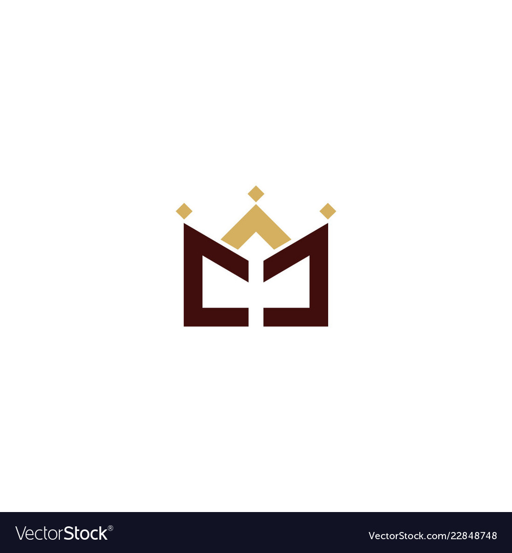 Crown line abstract logo