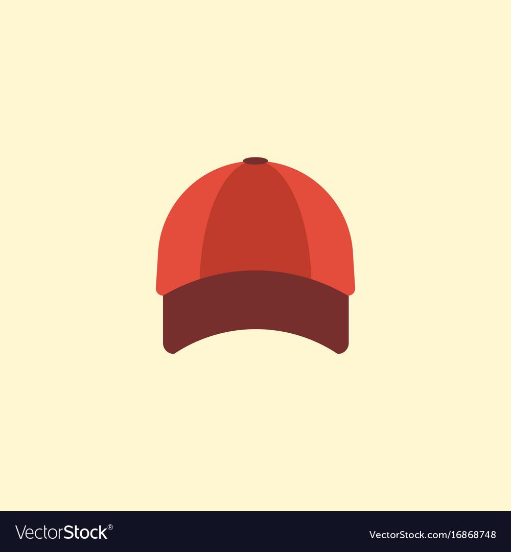 Flat icon baseball cap element Royalty Free Vector Image 901fdffcfbb