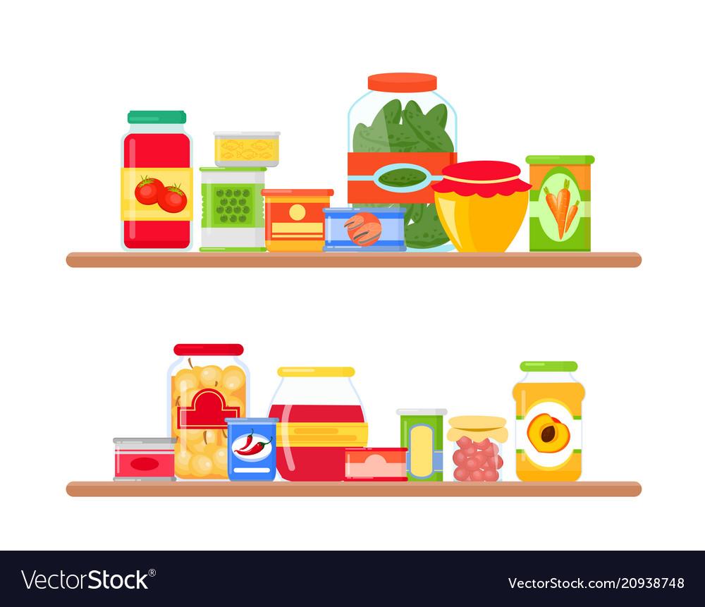 Grocery store shelves full