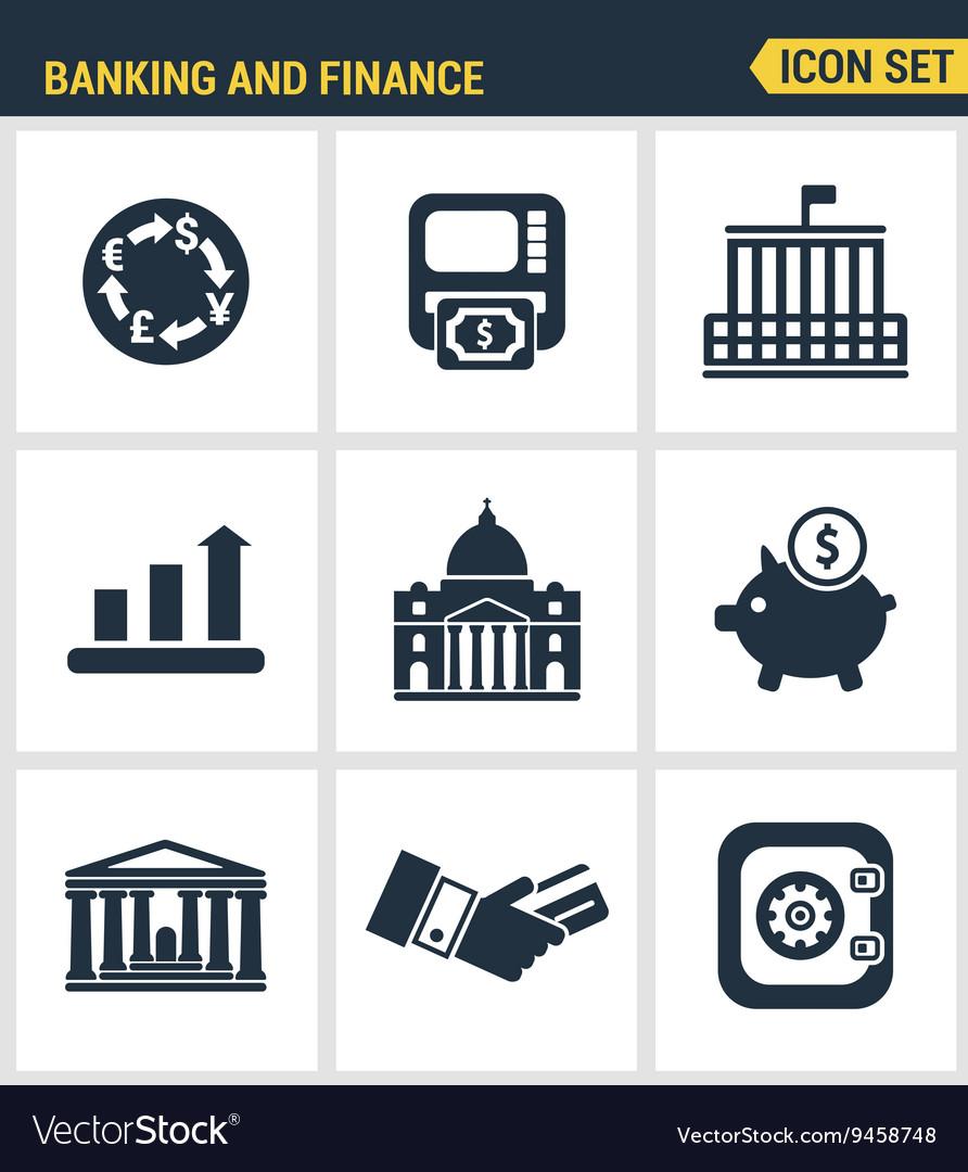 Icons set premium quality of money making banking