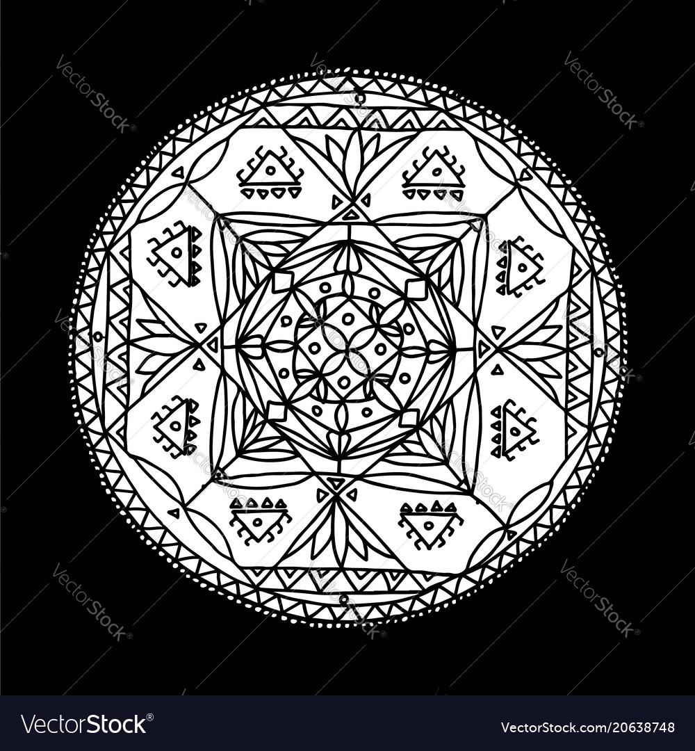 Mandala ornament hand made sketch for your design