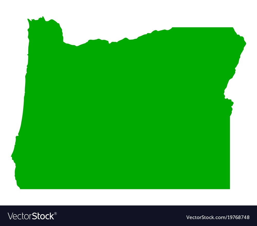 Oregon Map Image.Map Of Oregon Royalty Free Vector Image Vectorstock