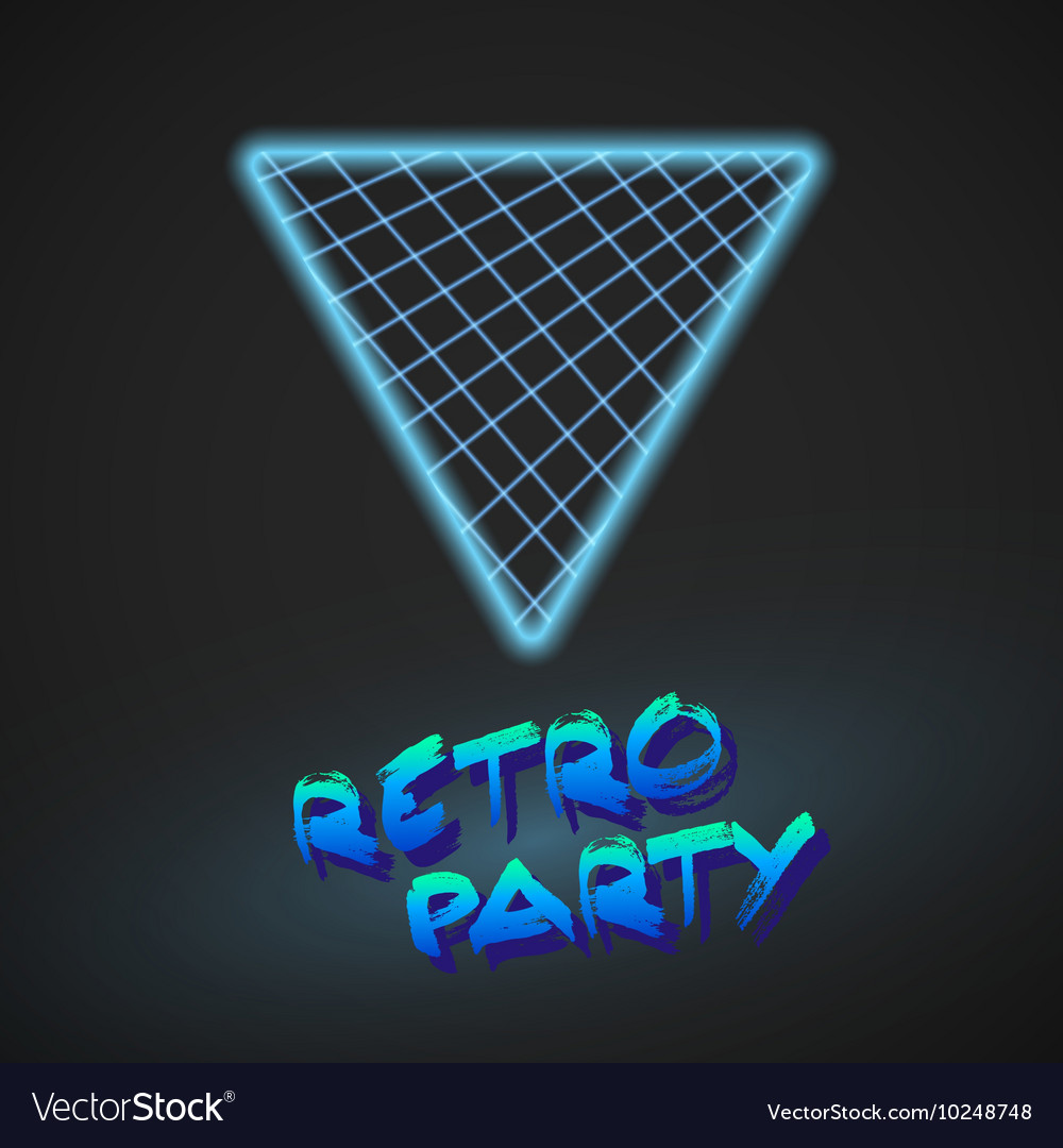 Neon Style Triangle Techno Background Outer Space