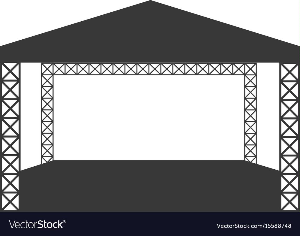 Outdoor rock concert flat icon or logo template vector image