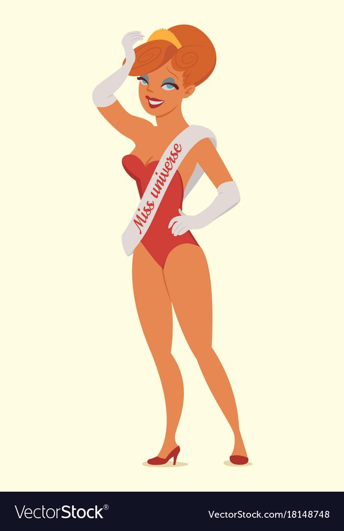 Queen of beauty miss universe vector image