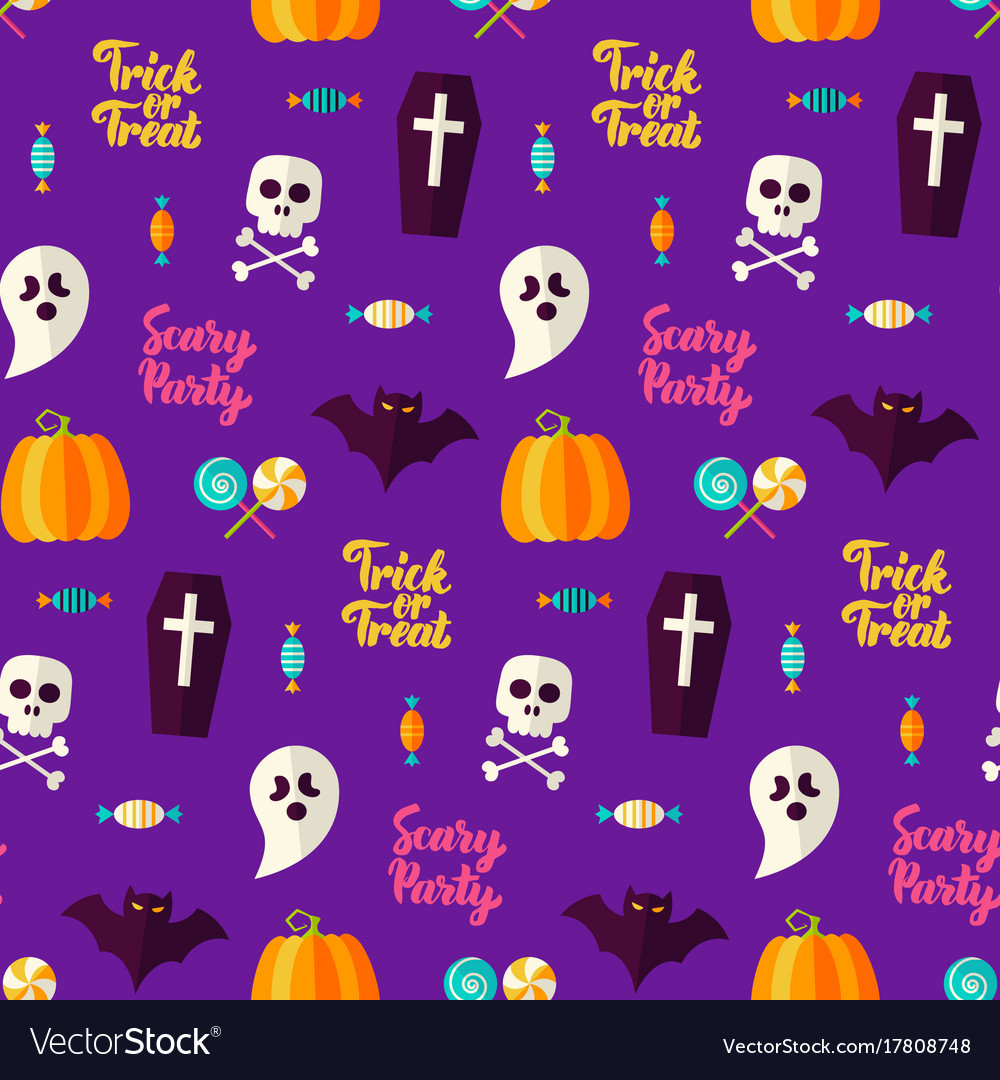 Scary party halloween seamless background