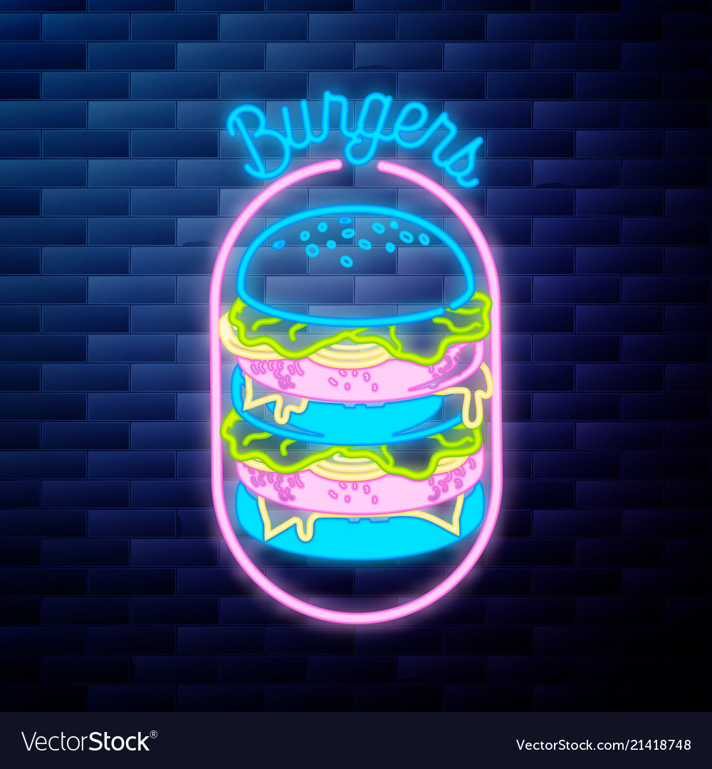 Vintage fast food emblem