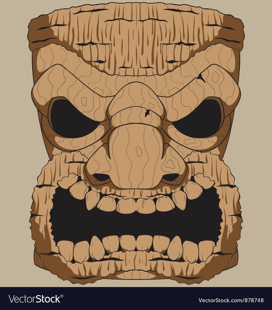 Wooden Tiki Carving