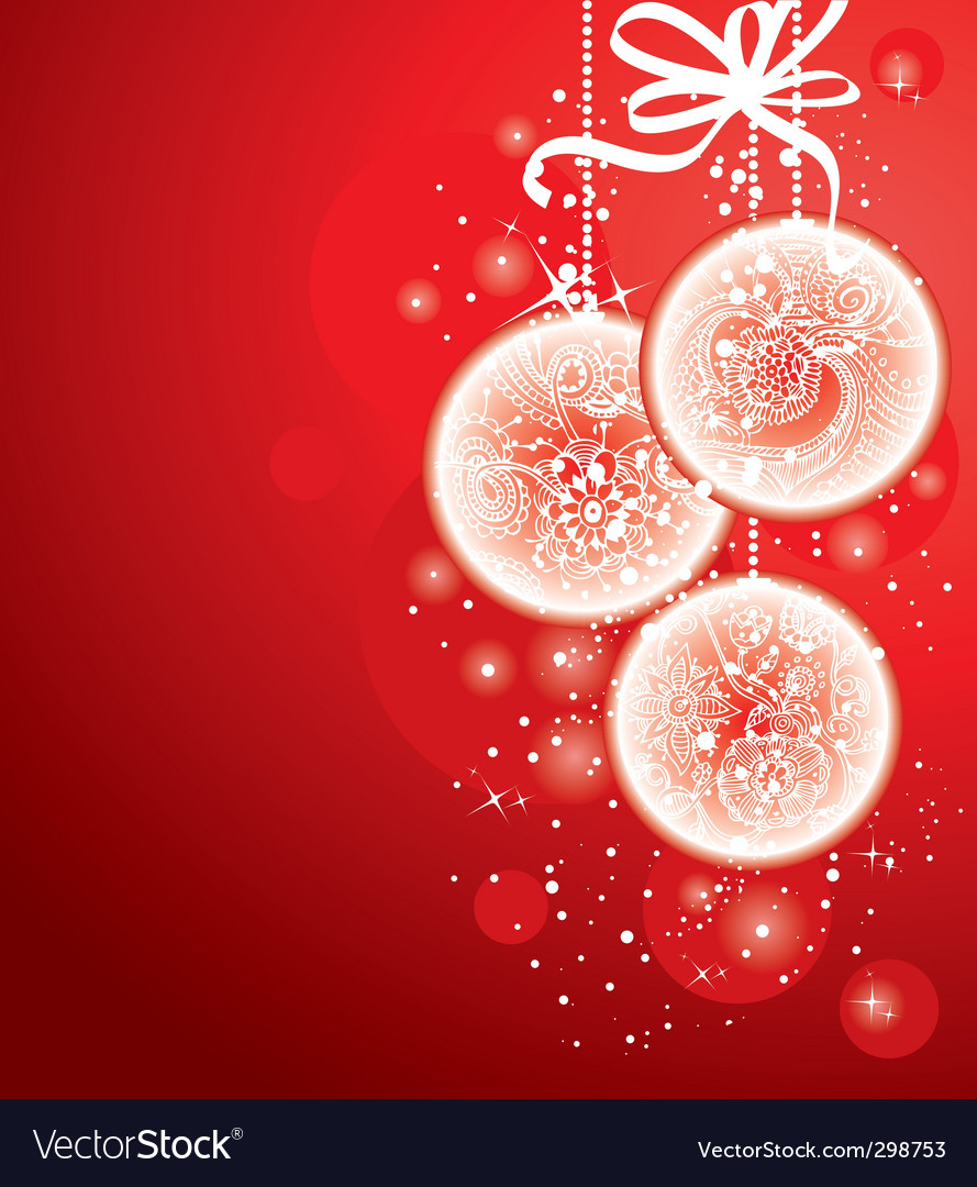 Christmas balls red vector image