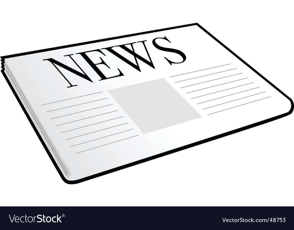 folded newspaper royalty free vector image vectorstock rh vectorstock com newspaper victory 1945 newspaper victoria tx