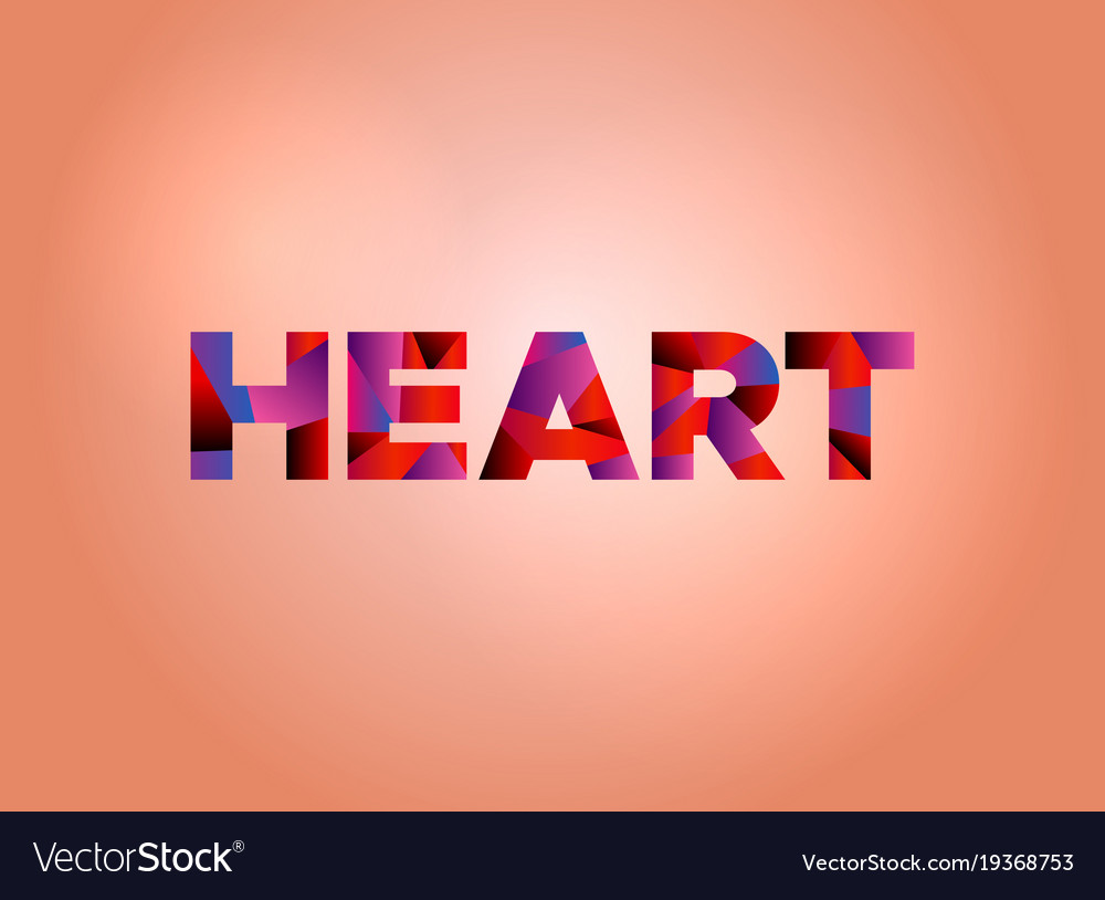 Heart concept colorful word art Royalty Free Vector Image d98d5f6ac