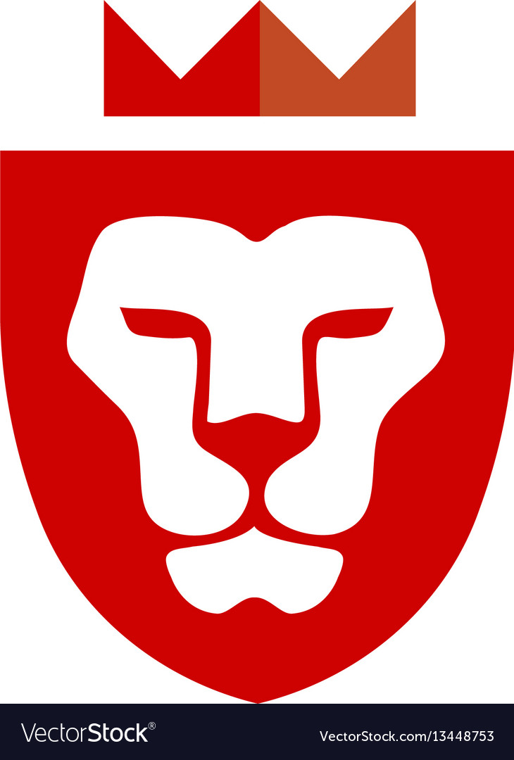 Lion king shield vector image