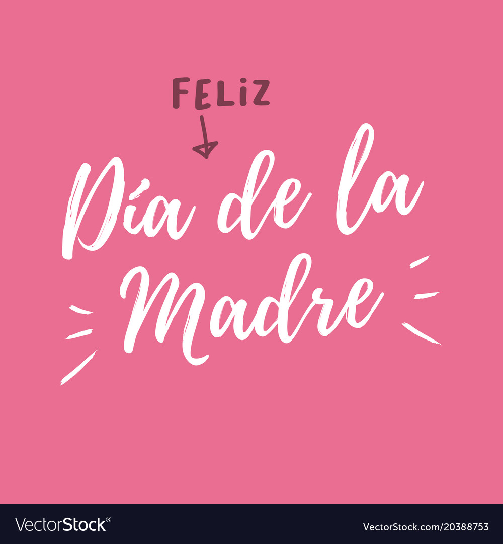 Mothers-day-card-pink-background-spanish-version vector image