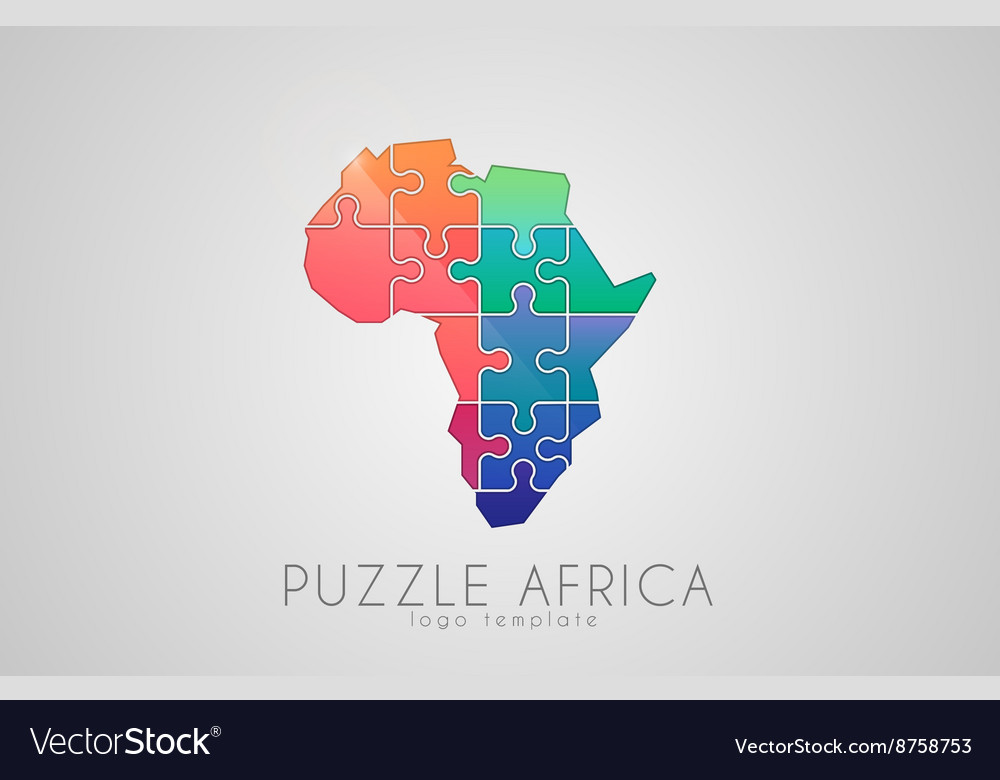 Puzzle africa map of africa africa logo royalty free vector puzzle africa map of africa africa logo vector image gumiabroncs Gallery
