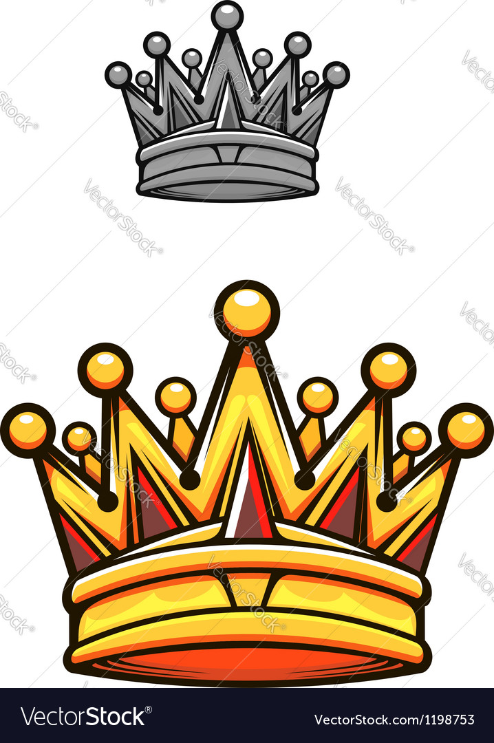 Vintage royal crown vector image