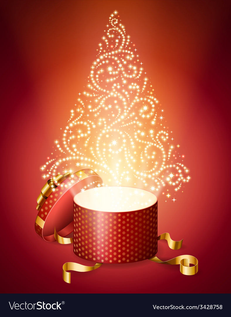 Abstract Christmas Tree from Gift Box vector image