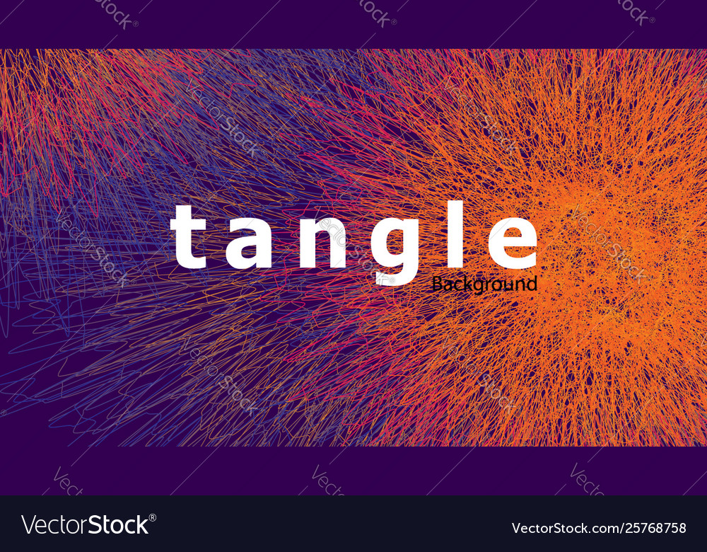 Abstract colorful tangle background