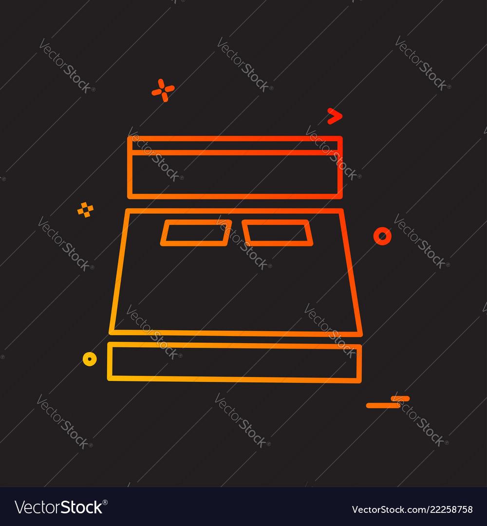 Bed icon design