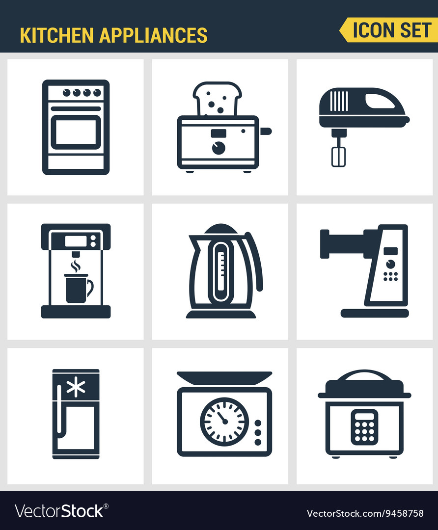 Icons set premium quality of kitchen utensils