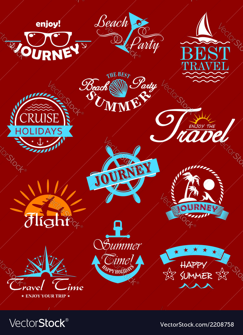 Travel banners and labels