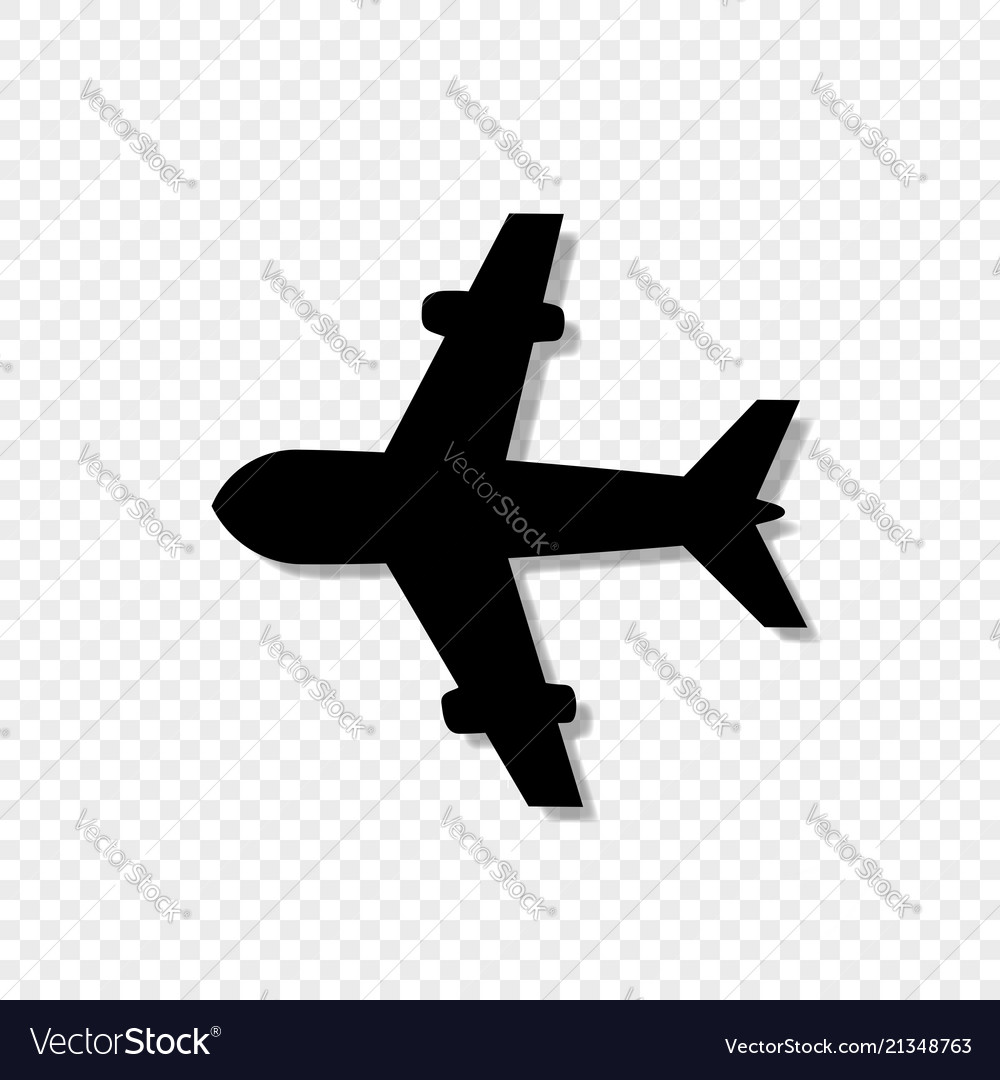 Airplane icon isolated on transparent background