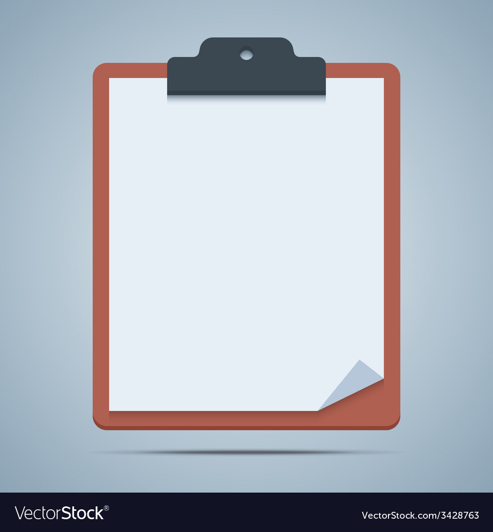 blank clipboard royalty free vector image vectorstock rh vectorstock com clipboard vector icon free clipboard vector png