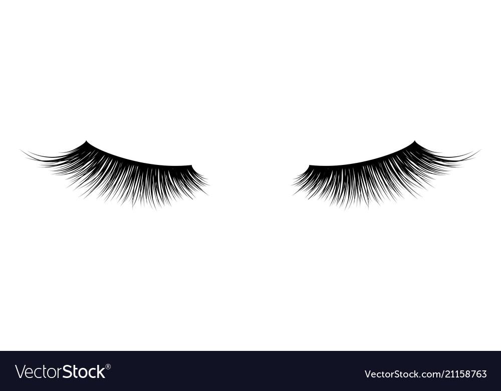 Eyelash or lash mascara icons