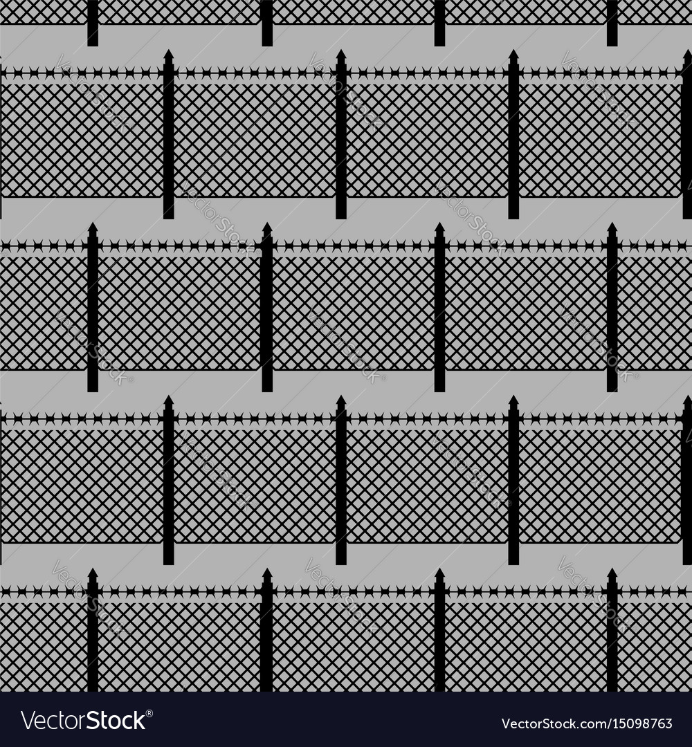 Fences seamless pattern boundary fence with