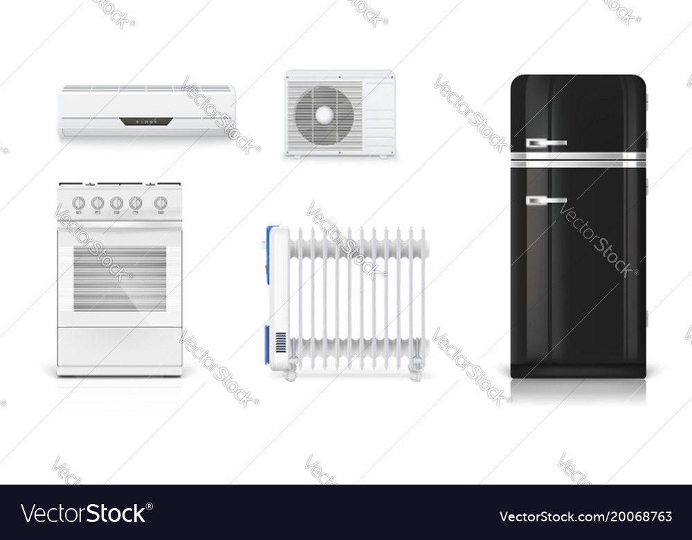 Home electrical appliances air conditioning Vector Image